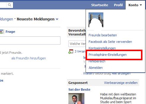 Facebook - Automatische Gesichtserkennung deaktivieren