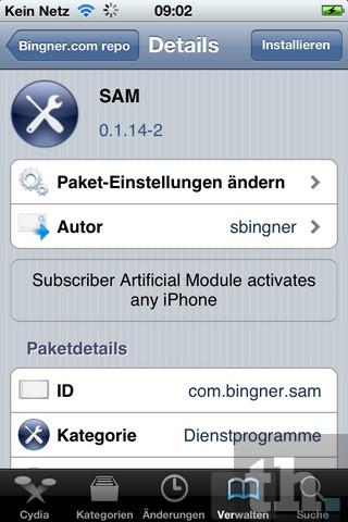 SAM installieren