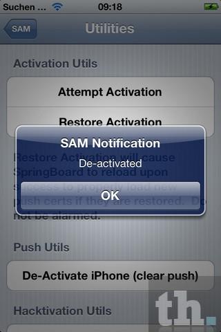 iPhone Deactivated SAM