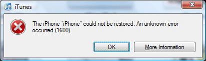 iTunes Error 1600 (1601, 1602, 1603, 1604)