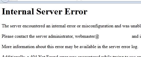 Joomla - Internal Server Error