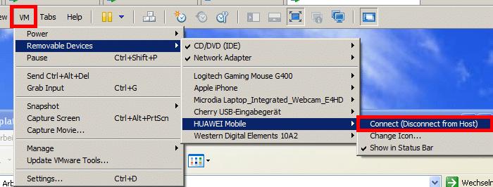 VMWare Workstation USB Passthrough