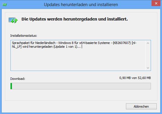 Windows 8 Language Pack download