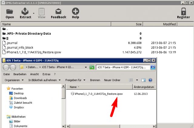 DMG Extrator - IPSW Datei