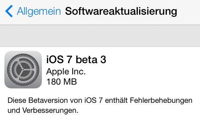 iOS 7 Beta3