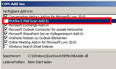 Outlook 2010 - Com-Add-Ins