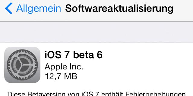 iOS 7 - Beta6