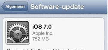 iOS 7 OTA Update
