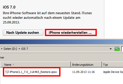 iPhone wiederherstellen