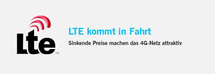 LTE Logo - LTE kommt in Fahrt