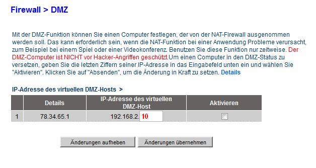 BelkinF7D1301v1 DMZ