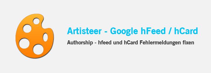 Artisteer - Fix von hCard und hfeed Problemen