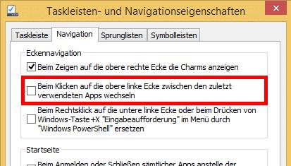 Windows 8.1 Hinweise ausblenden