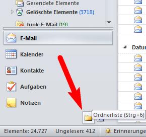 Outlook - Ordneransicht