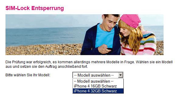 T-Mobile Simlock Modell