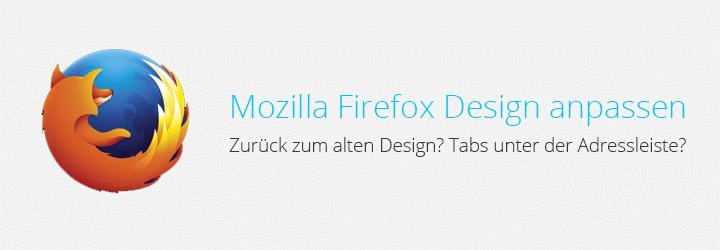 Firefox Design anpassen