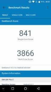 Geekbench UMi Plus E
